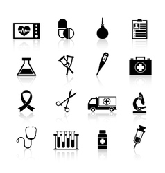 Medical Equipment Icon Black vector image vector image
