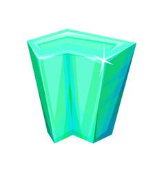Mineral crystalic precious stone crystal gem vector