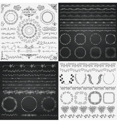 Mix black and chalk drawing rustic design vector
