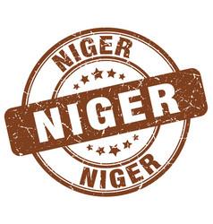 Niger brown grunge round vintage rubber stamp vector