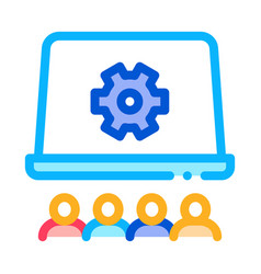office working meeting icon outline vector image