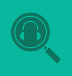 online music search glyph color icon vector image