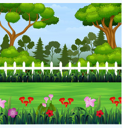 Panorama beautiful landscape background vector