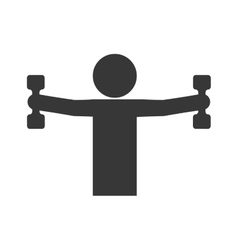 Pictogram lifintg weight icon Healthy lifestyle vector