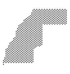 Pixel western sahara map vector