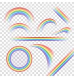 Rainbow icons set realistic vector image