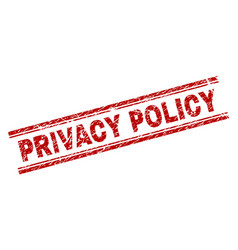 Scratched textured privacy policy stamp seal vector