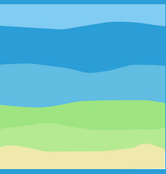 sea bottom in minimalism bottom elements in vector image