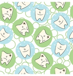 Seamless baby teeth care vector