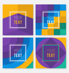 Set of colorful cards modern abstract design vector