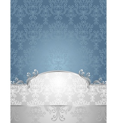 Set Seamless pattern in Victorian style Blue and S vector image vector image