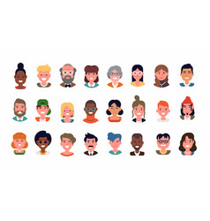 set various userpics and avatars vector image