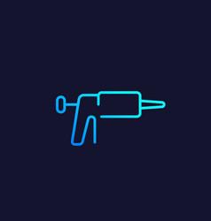 silicone caulk gun icon line vector image