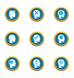 smart choice icons set flat style vector image