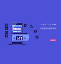 smart house concept flat style banner design vector image