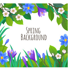 spring and summer banner template vector image