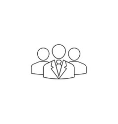 Team leader line icon people business vector