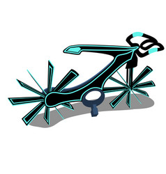 the bike is a new generation isolated on a white vector image