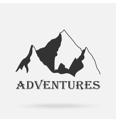 The three peaks vintage mountains Adventure vector