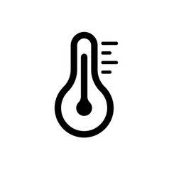 Thermometer icon simple sign temperature flat vector