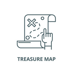 treasure map line icon linear concept vector image