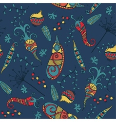 Vegetables - seamless pattern background vector image