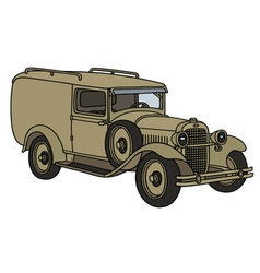 Vintage military vehicle vector