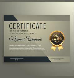 Vip premium certificate design template vector