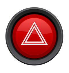 Warning light red button car dashboard element vector