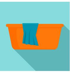 Wash basin icon flat style vector