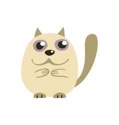 Cute white Siamese cat vector image