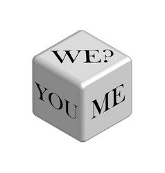 dice concept do it together in 3d vector image