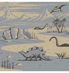 Dinos vector image