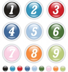 number buttons vector image vector image