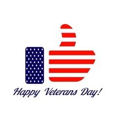 Veterans day flag design logo emblem vector image