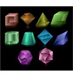 glass figures vector image vector image