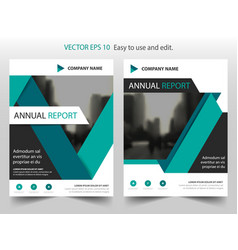 green black label annual report brochure flyer vector image vector image