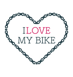 Love bike card vector image vector image