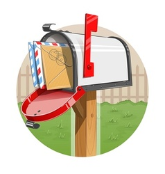 Mail box with letters vector image