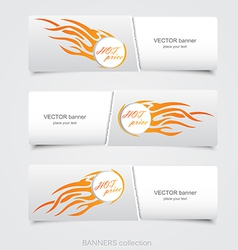 riped abstract banner 2 vector image vector image