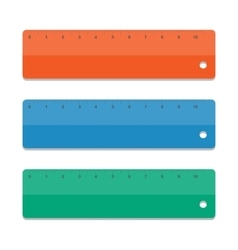 Set rulers vector image vector image