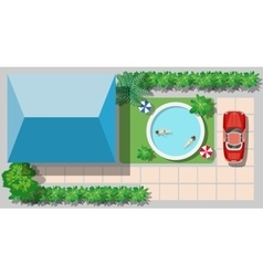 top view of a country vector image vector image