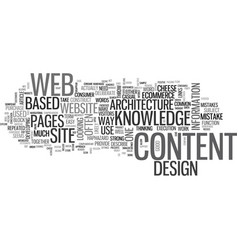 web design be an architect text word cloud concept vector image vector image