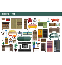 home and office furniture chairs table desk and vector image vector image