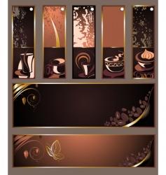 set of coffee tea banners vector image