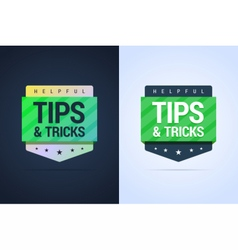 Tips and tricks banners vector image vector image