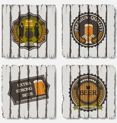 Beer badges and labels vector