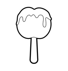 delicious candy apple icon image vector image vector image