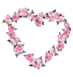 Floral heart vector image