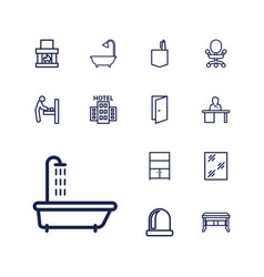 13 room icons vector
